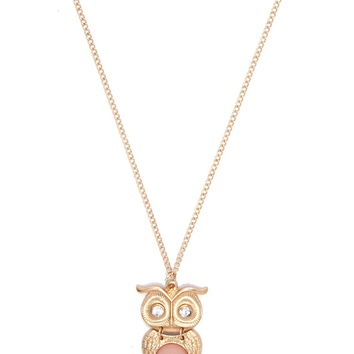 Owl Pendant Longline Necklace