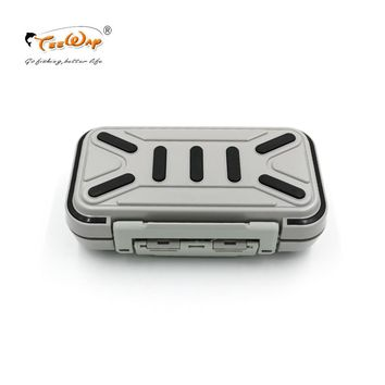 Teeway Lure Fishing Box 24 Compartments Double Layer Fishing Box Plastic Fishing Tackle Box