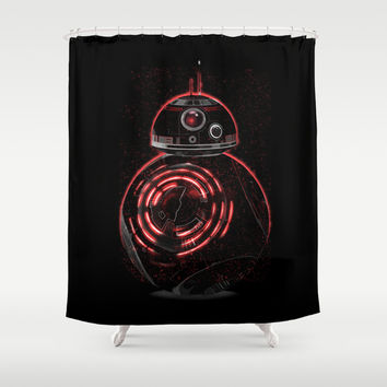 BB8 Darth  Shower Curtain by Daniac Design
