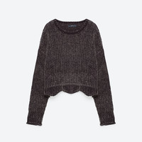 CROPPED ROUND NECK SWEATER - View all-KNITWEAR-WOMAN | ZARA United States