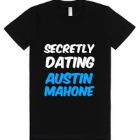 Secretly Dating Austin Mahone-Female Black T-Shirt