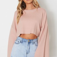 Saski Cropped Knit Blush