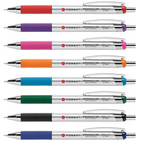 FORAY® Advanced Ink Retractable Ballpoint Pens, Needle Point, 0.7 mm, Assorted Barrels, Assorted Ink Colors, Pack Of 8 Item # 200473