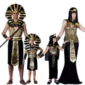 PEAPON Egypt Princess Costumes 2017 New Egyptian pharaoh Cosplay masquerade Halloween adult childen kid Girl costume Cleopatra royal