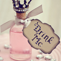 Alice in Wonderland -Silver Tags- Featured on ETSY Front Page