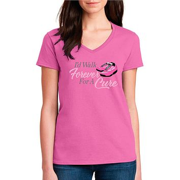 Breast Cancer Awareness Ladies Shirt - Pink Ribbon | Our T-shirt Shack