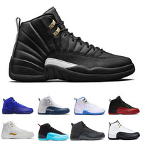 2017 air retro 12 12s ovo White men Basketball Shoes Flu Game french University blue the master TAXI playoffs Black Nylon Sports Sneakers