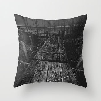 On the wrong side of the lake 13 Throw Pillow by HappyMelvin