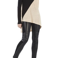 BCBG Women's Claudia Color-Blocked Asymmetrical Top