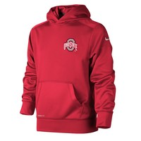 Nike Ohio State Buckeyes KO Therma-FIT Performance Fleece Hoodie - Boys