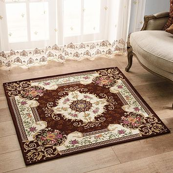 European Style Square Living room/Dining Bedroom Mat/Rug