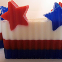 4th of July Bar Glycerin Soaps by LeeAnnsHeavenScents on Etsy