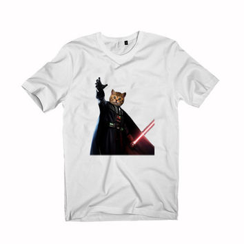 Cat Vader Kitten Kitty Darth Vader Starwars For T-Shirt Unisex Aduls size S-2XL