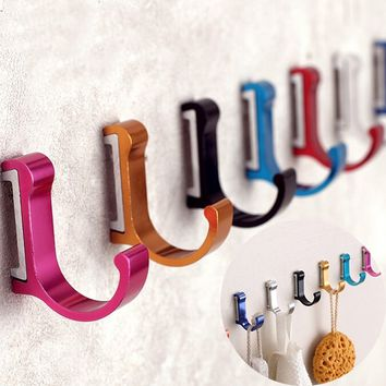 10 Colors Aluminum Alloy Bathroom Robe Rack Wall Clothes Rack Towel Rack Cloth Hanger Coat Rack Coat Hook