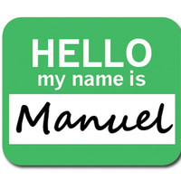 Manuel Hello My Name Is Mouse Pad