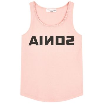 Sonia Rykiel Girls Light Pink Logo Tank-Top