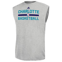 Charlotte Hornets adidas Practice ClimaLITE Slim Fit T-Shirt – Gray