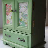 Vintage Jewelry Box Armoire Music Box In a by PaperHeartsCouncil