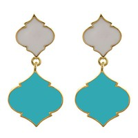 Two Tone Spade Earrings {Four Combinations}