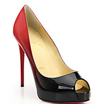 Christian Louboutin - Very Prive Ombré Patent Leather Peep-Toe Pumps - Saks Fifth Avenue Mobile
