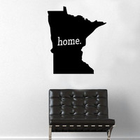 Minnesota Home Decal - Home Decor - Car Decal - USA - America - Indoor - Outdoor - Cottage - Perfect Gift - High Quality Vinyl Graphic