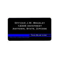 Thin Blue Line Striped Police Lives Matter Support Label