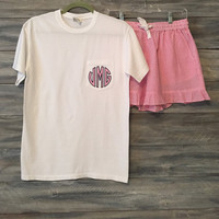 Ladies Monogrammed Pajama Set * free shipping*