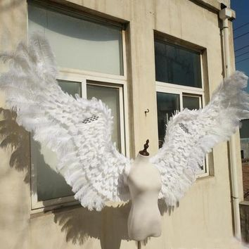 Pure White Adult Angel Wing Show Props Festival Angel Feather Wing Cosplay Costume