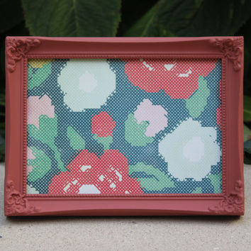 Coral painted 5 x 7 picture frame