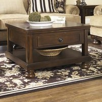 T697-0 Porter Lift Top Cocktail Table Rustic Brown Free Shipping!