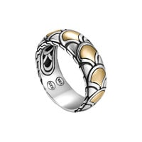 Naga Gold & Silver Band Ring, Size 7 - John Hardy