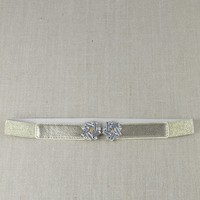 Gold Jeweled Stretch Belt