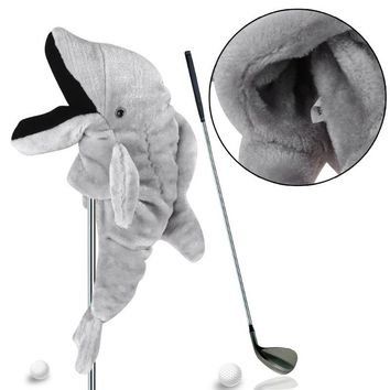 1PCS Dolphin Head Guard Cover Wood Head Protective Cover Golf Club Head Cover Golf Accessories