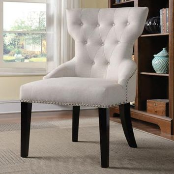 Coaster Sophisticated Traditional Accent Chair, White - Walmart.com