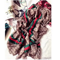 FANEWANTS : GUCCI Fashion Women Easy to match Silk Scarf