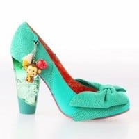 Irregular Choice Trinklettina Heel Shoes - Green - Punk.com