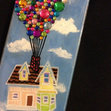 Disney/Pixar's Up Inspired- Rhinestoned and Hand Painted Phone Case
