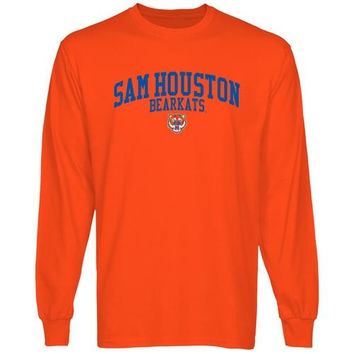 Sam Houston State Bearkats Team Arch Long Sleeve T-Shirt - Orange