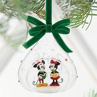 Mickey and Minnie Mouse Glass Sketchbook Ornament - Holiday 2016 | Disney Store