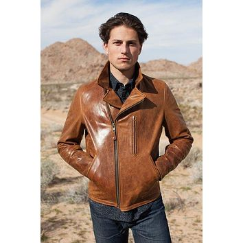 Schott NYC 'Express' 508 Men's Leather Motorcycle Jacket