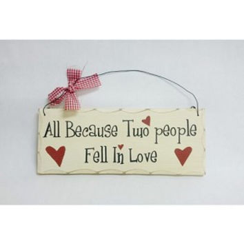 Fell In Love Wooden Sign