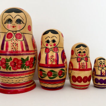 Flowers and Dots Nesting Dolls