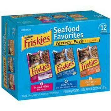 MDIGYN5 Friskies Fine Cuts Tuna in Sauce or Ocean Whitefish in Sauce 2-12pk