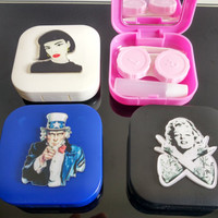 New Classical Contact Lens Case Travel Kit as Present