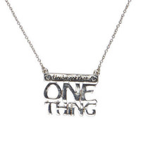 1D One Thing Necklace