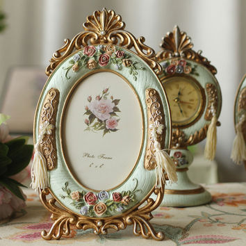 European Style of the Ancient Korean Creative Wedding Room Decoration gift Home Furnishing Resin Table  photo Frame