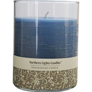 Fresh Linen Scented FRESH LINEN SCENTED ONE 4.5 inch GLASS PILLAR SCENTED CANDLE WITH LID.  BURNS APPROX. 70 HRS. UNISEX