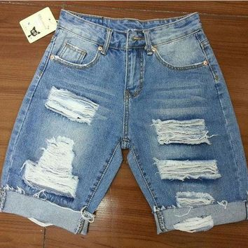 Hot Shorts BIVIGAOS Summer Womens Loose Denim  Beggar Hole Ripped Jeans  Ladies Short Jeans For Women  Fashion S-XXXLAT_43_3