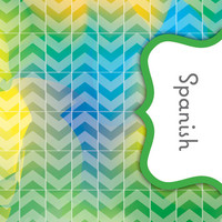 Back to School! Swirly Paint Binder Dividers - Spanish Class