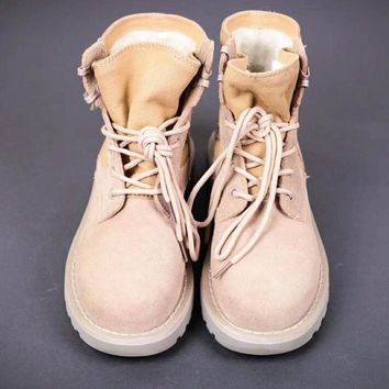 Winter Fashion Casual Women Men High Help Lace-Up Warm Snow Boots I-A-YYMY-XY